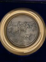 "Bronze 8"" plate by Charles Russell (Unexpected Visitor ). 1979 Limited Edition"