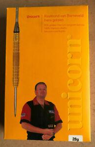 New - Unicorn Raymond Van Barneveld Hero Golden 95% Tungsten Darts - 28g
