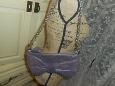 JUICY COUTURE  METALLIC  SOFT  PURPLE  QUILTED  BOW DETAIL CHAIN STRAP BAG NWOT