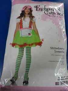 Strawberry Sweetie Shortcake Country Girl Fancy Dress Up Halloween Child Costume