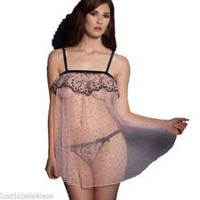 Silk Patternless Babydoll Short Women's Nightwear