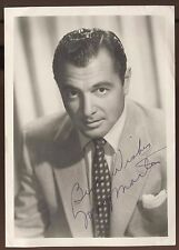 Tony Martin Signed Photo Autographed Vintage Auto Signature Singer Early Career