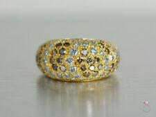 CARTIER DIAMOND SAUVAGE RING, 18K DOME WHITE & BROWN COCKTAIL DIAMOND RING, SZ 6