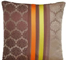 Designers Guild Silk Cushion Cover Perrault Cocoa Yellow Orange Brown 16x16""