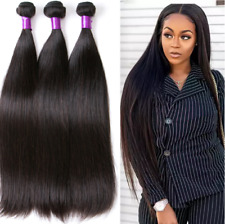100% Brazilian Hair Straight Virgin Hair Wave Remy 7A Human Hair Extensions Weft