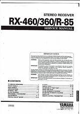Yamaha Service Manual  für R-85/ RX-360/460