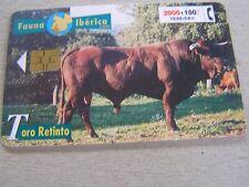 Spain used  chipcard  FAUNA IBERICA  Series,,,,   Toro Retinto   Bull