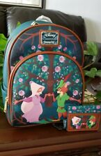 Loungefly Disney Robin Hood Floral Mini Backpack & Cardholder Set NWT NEW
