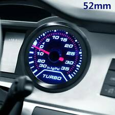 52mm Turbo Boost 30Psi Pob LED Pressure Pointer Gauge Meter Dials Smoked