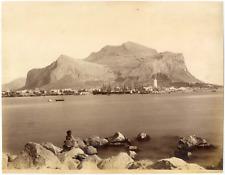 Sommer Giorgio, Italie, Palerme, Palermo, monte Pellegrino  Vintage albumen prin