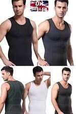 UK Slimming Compression Gym Training Vest for Men Tummy Control Back Support New