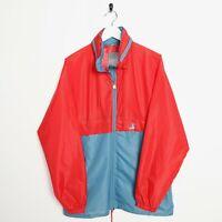 Vintage K-WAY Soft Shell Lightweight Anorak Jacket Red Blue | Large L