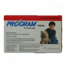Program Small Dogs Flea Prevention Treatment - 6 Pack Flea Tablets 2.3-6.7Kg Dog