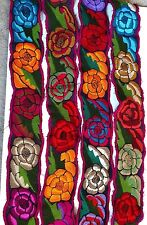 """Mexican Embroidered Colorful Belts Corset belt  Adjustable /w tie 4"""" width  38"""""""