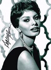 Sophia Loren Hand Signed Autograph Photo  Classic Actress Icon El Cid  Two Women