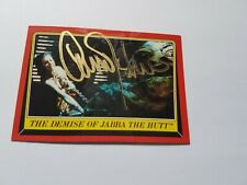 Carrie Fisher Princess Leia Topps Signed Autographed Card Star Wars W/Coa