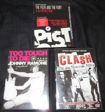 New! 3 Film Punk Documentary DVD Lot! Sex Pistols Clash Ramones Strummer Johnny