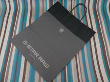 Paper gift bag G-Star 38x31.5cm M-L grey navy store tall carrier new bags NO tag