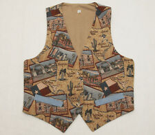 Vintage Tapestry Western Texan Vest Size Small Football Player Lone Star Dallas