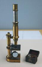 ERNST LEITZ WETZLAR ANTIQUE BRASS MICROSCOPE, STATIV IV STAND, SN-30944, 1894