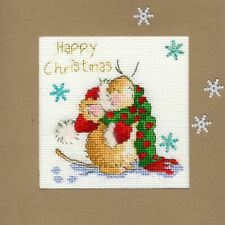 Bothy Threads Cross Stitch Card Kit - Counting Snowflakes