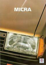 Prospekt / Brochure Nissan Micra 01/1984
