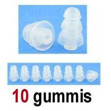 10 Ersatz Gummis für Ear Headsets Kopfhörer Ohrhörer SILIKON weißen