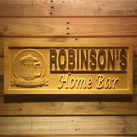 wpa0142 Name Personalized Home Bar Beer Established Year Wooden Sign