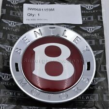 "Genuine Bentley Centre Cap Red""B"" Continental GT Spur GTC 1 Piece 3W0601159M"