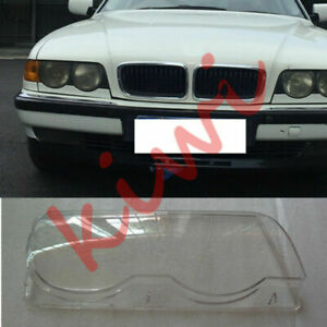 For BMW 7series E38 1998-2001 Right Side Headlight Clear Lens + Sealant Glue