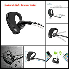Universal Bluetooth 4.0 Headset Wireless Earbuds Hands-Free with Voice Command