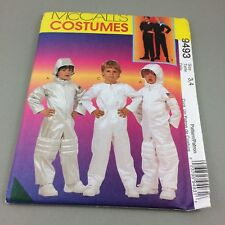 Astronaut Space Suit Costume Pattern McCalls 9493 Child Size 3 4 Uncut Halloween