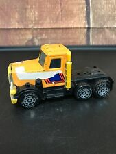 VTG 1980 Buddy L Peterbilt Orange Semi Truck Made In Japan