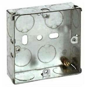 Single/Double/Triple 1 & 2 Gang 16,25,35,47mm Metal Backing Boxes