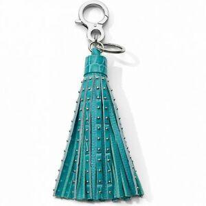 NWT Brighton Your Bag ROCK STAR Sea Green Handbag Tassel Fob MSRP $55