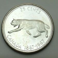 1967 Canadian 25 Cents Quarter Canada Uncirculated Coin Not In Case C710