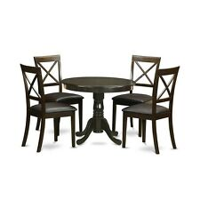 5 Piece Kitchen Nook Dining Set-Kitchen Table Plus 4 Chairs For Dining Room NEW