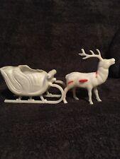 Vintage Christmas Decor Sled And Raindeer