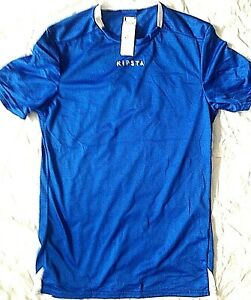 MEN FOOTBALL T-SHIRT SPORT GYM KIPSTA SIZE EU S UK SIZE XS NEW RUNNING BLUE