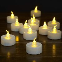 CK_Flameless, 12pcs Battery Operated LED  Candles Flickering Tea Lights with