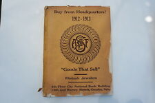 A.F. SMITH COMPANY WHOLESALE JEWELERS 1912-1913 CATALOG RINGS SILVERWARE WATCHES
