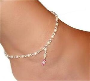 SEXY Bride genuine  Pearl  gorgeous  QUALITY hand designed uSA   anklet Chain