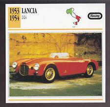 1953-1954 Lancia D24 D-24 V6 Italy Race Car Photo Spec Sheet Info ATLAS CARD