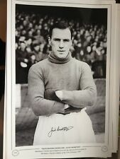 JACK CROMPTON - LEGENDARY MANCHESTER UNITED GOALIE - LARGE 1950's SIGNED PHOTO