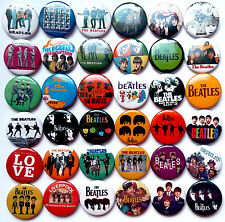 THE BEATLES Pins Button Badges Revolver A Hard Days Night Love Lot of 36