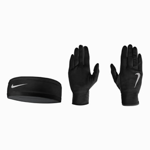 Nike Men's Dri Fit Dry Running Reflective Headband and Gloves Set NEW Size S/M