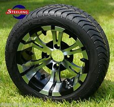 "GOLF CART 12"" VAMPIRE WHEELS and 215/40-12 DOT LOW PROFILE TIRES (SET OF 4)"