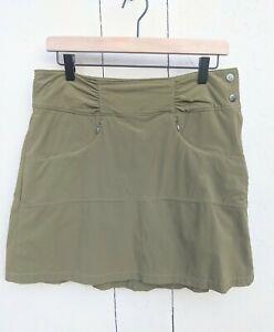 ATHLETA Hit the Trail Skort Skirt Women's Sz 6 Olive Green