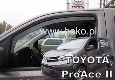 Toyota Proace II 3 puertas 2016-UP conjunto de frente viento desviadores 2pc Heko Teñido
