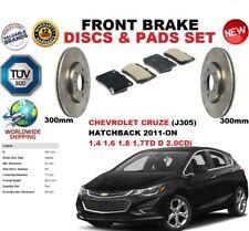 FOR CHEVROLET CRUZE HATCHBACK 2011-ON 300MM FRONT BRAKE DISC SET + BRAKE PAD KIT